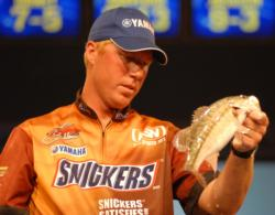 Greg Vinson of Wetumpka, Ala., finished fifth with a two-day total of 14 pounds, 9 ounces worth $16,620.