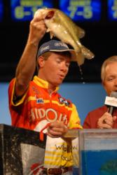 Local stick Robert Robinson of Mobile, Ala, finished fourth with two-day total of 14 pounds, 14 ounces worth $20,780.