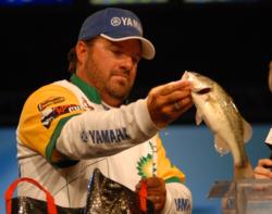 David Curtis of Trinity, Texas, finished third with a two-day total of 16 pounds worth $35, 750.