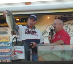 Local pro Charles Haralson took fourth at the Stren Series event on Falcon Lake.