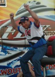 Opelousas, La., pro Jeremy Guidry celebrates his first Stren Series victory.