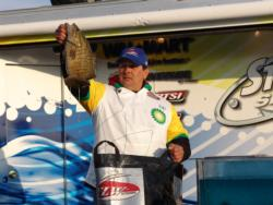 Local pro Preston Havens bagged a 5-pound, 8-ounce smallmouth on his way to a second place finish.