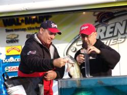 Despite a slow start, Steve Ruff enjoyed a midday frenzy during which he and co-angler winner Howard Fulgham boated 18 fish in 15 minutes.