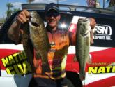 Leading the California team on day one of the TBF Western Divisional on Lake Havasu is Troy Lindner with 13-11.