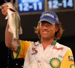 BP pro Jim Moynagh of Carver, Minn., held onto his second place position with a two-day total of 22 pounds, 9 ounces worth $50,000.