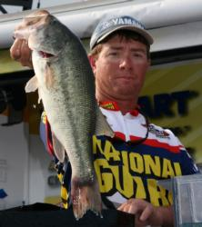 After riding his spinnerbait bite for three days, Robert Robinson switched to a swimming jig once his primary pattern fizzled.