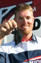 Flipping a red and black jig with a Zoom chunk trailer produced most of Kyle Porter