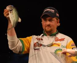 Matt Arey of Shelby, N.C., finished fifth with a two-day total of 16 pounds, 2 ounces worth $30,000.