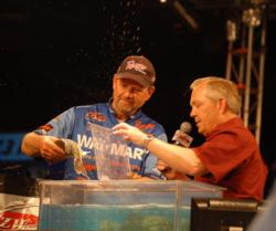 Wal-Mart pro George Cochran of Hot Springs, Ark., finished runner-up with a two-day total of 18 pounds, 3 ounces.