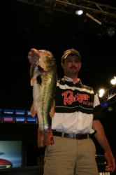 Second-place co-angler Billy Cain caught his division