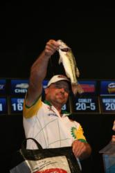 Fishing deep was the key to success for second-place co-angler Kevin Snider.