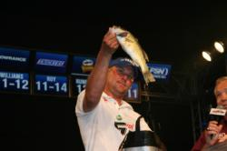 Louisiana angler Leavitt Hamilton reached third place by fishing shaky head worms on spinning gear, something he