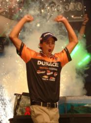 Michael Bennett celebrates after winning the 2008 Forrest Wood Cup.