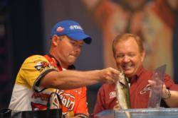 Kellogg's pro Dave Lefebre of Union City, Pa., finished in what is perhaps the most difficult spot in professional bass fishing - runner up at the Forrest Wood Cup. But he still collected $100,000.