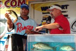 Veteran pro David Curtis of Trinity, Texas, finished in fourth place at the Stren Series Red River event.