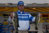 Harmon Davis of Marlow, Okla., also tapped into the largemouth bite, weighing in five green fish for 16 pounds, 11 ounces, to take second place after day one.