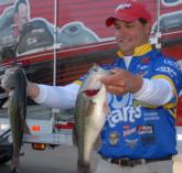 Kellogg's pro Greg Bohannan of Rogers, Ark., is in 8th with a two-day total of 24-3.