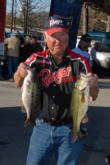 Bobby McMullin of Pevely, Mo., is in fourth place with a two-day total of 26 pounds, 1 ounce.