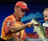 Robbie Dodson caught 12 pounds, 15 ounces on day three and is fourth in the Pro Division.