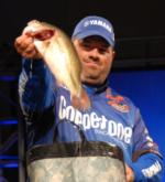 David Curtis of Trinity, Texas, is now in fifth place with a two-day total of 12 pounds, 14 ounces.