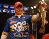 Kellogg's pro Greg Bohannan of Rogers, Ark., electrified the audience with a 20-pound, 6 ounce catch which put him in second place.