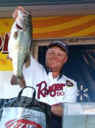 Pro Jerry Green finished the Stren Series event on Falcon Lake in fourth place and earned $7,000.