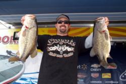 Pro Adam McAndrews of Santa Clara, Calif., is in second place at Clear Lake with 26-11.