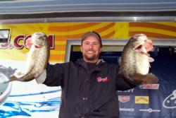 Pro Rob Riehl is in third after day one at Clear Lake.