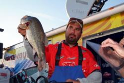 Pro Steve Ericksen of San Jose, Calif., was runner-up with 15 bass, 71-1, $8,169.