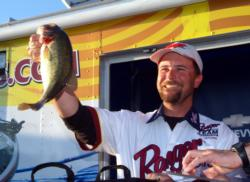 Pro Rob Riehl of Tracy, Calif., placed fifth with 15 bass, 57-8, $4,902.