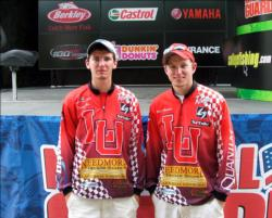 Third place at Sam Rayburn went to the Lamar University team of Matt Morrison of Silsbee, Texas, and Danny Iles of Hemphill, Texas, for weighing six bass, 17-9, $4,000 in scholarship money.