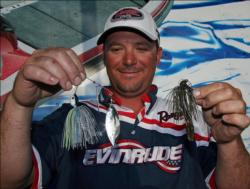 A signature series spinnerbait and a half-ounce jig were Roy Hawk