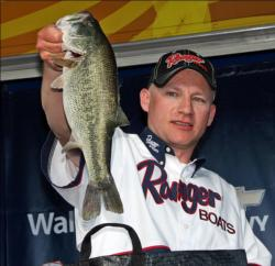Despite breaking a rod on a large fish, David Stachowski still managed to find a nice limit that moved him into fourth place.