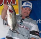 Cecil Wolf of Hanahan, S.C., charged up into second place with four bass weighing 14 pounds, 11 ounces for a three-day total of 45 pounds, 7 ounces.
