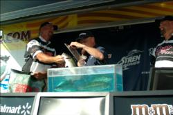 Jason Bubier of Oroville, Calif. started day three in first place, but ended it in third with 29 pounds, 2 ounces.