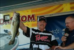 One by one Jim Milson placed his fish in the tank at the final weigh-in at Walmart in Del Rio. He topped second place Russell Cecil by 2 pounds, 5 ounces.