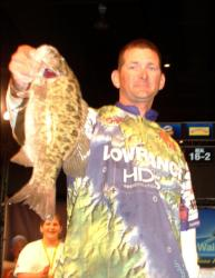 Boater Chris Baldwin of Lexington, N.C., caught this kicker small mouth on the final day of the All-American to finish third with a total of 11 bass weighing 22-15.