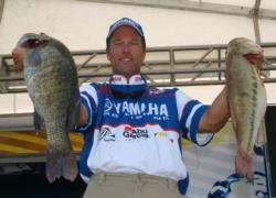 Terry Bolton is in second place with 23 pounds, 13 ounces.