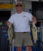 Todd Lee of Jasper, Ala., is in second place in the Co-angler Division with five bass weighing 19 pounds, 14 ounces.