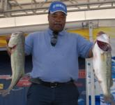 Eddie Laster of Morton, Miss., leads the Co-angler Division of the FLW Tour on Kentucky Lake with 20 pounds, 13 ounces.