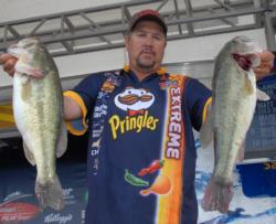 Pringles pro Jimmy Millsaps of Canton, Ga., is in third place after day one with 22-1.
