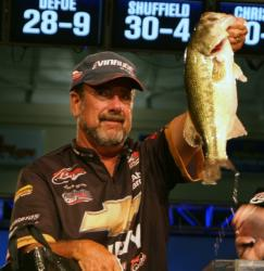 Larry Nixon finished the FLW Tour event on Kentucky Lake in third place, earning $40,000.