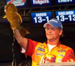 Pro Mark Hardin caught a 20-pound, 2-ounce sack Sunday and finished third overall.
