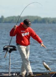 Jay Yelas boats a keeper.