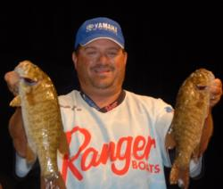 David Curtis is in second place after day one with 8 pounds, 12 ounces.