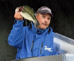Steve Lucarelli was quick to point out his largemouth prowess to his New Hampshire buddies.