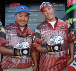 Another big catch late in the day gave Kong Moua and Sark Davidian enough weight to move into third place.