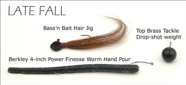 Smallmouth lures for late fall