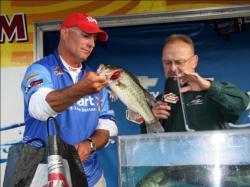 Second place pro Tim Reneau found early success on a crankbait bite.