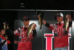 Indiana University caught their best bag of the tournament on the final day. Their six bass weighed 13 pounds, 2 ounces.